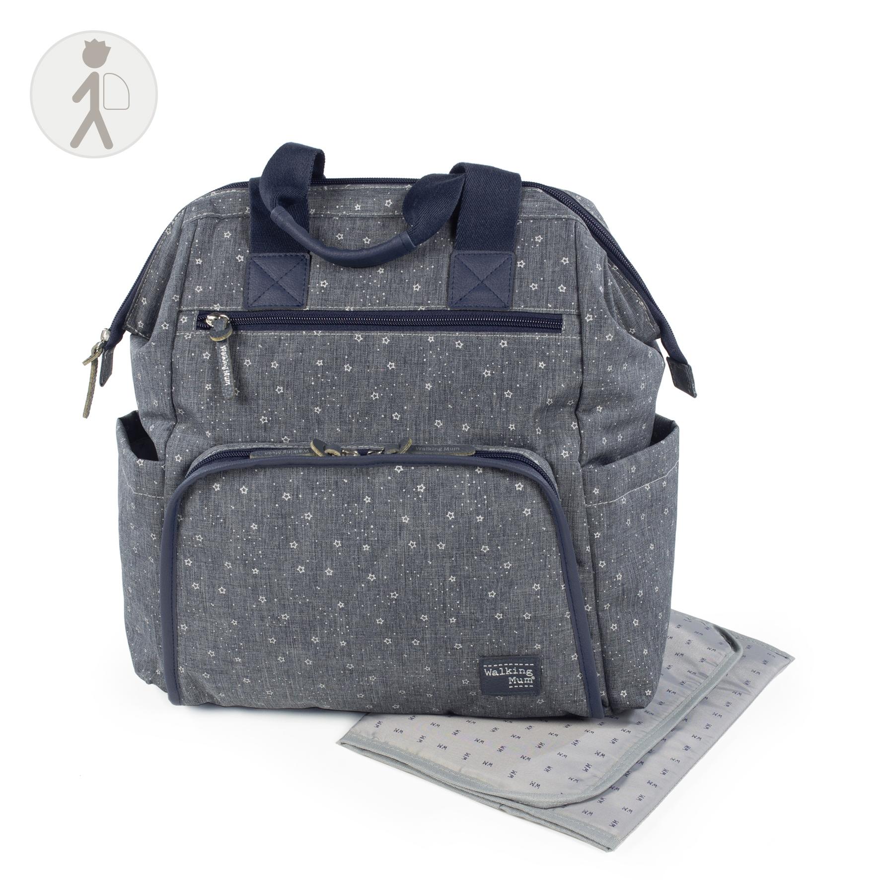 Bolso mochila para silla Dreamer azul de Walking Mum