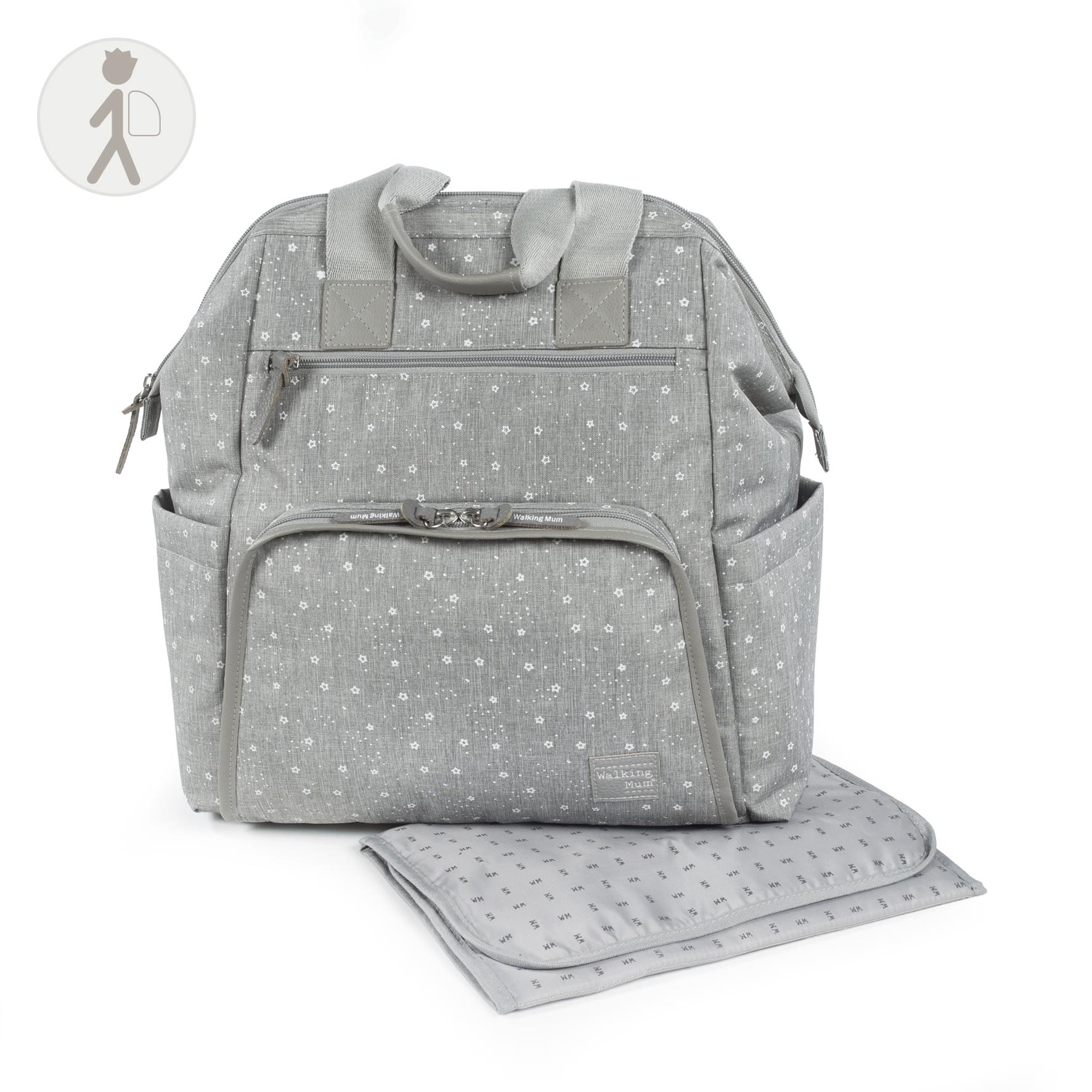 Bolso mochila para silla Dreamer gris de Walking Mum